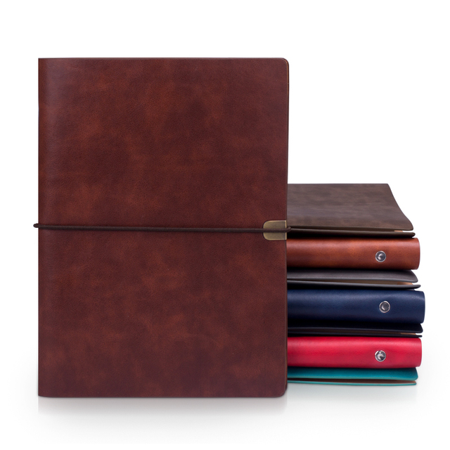RuiZe vintage B5 notebook cover travel journal diary A5 leather spiral notebook planner 6 ring binder note book agenda 2020