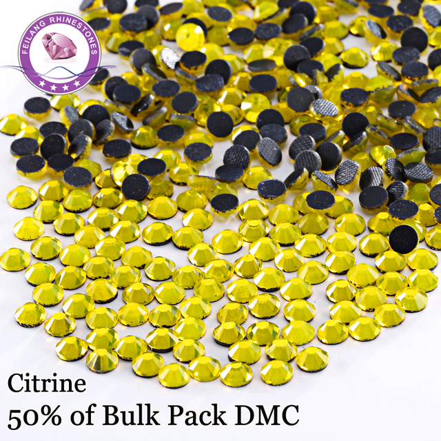 Iron On Flatback DIY Decoration Stones Color Citrine DMC Hotfix Rhinestones For Dresses  Accessories