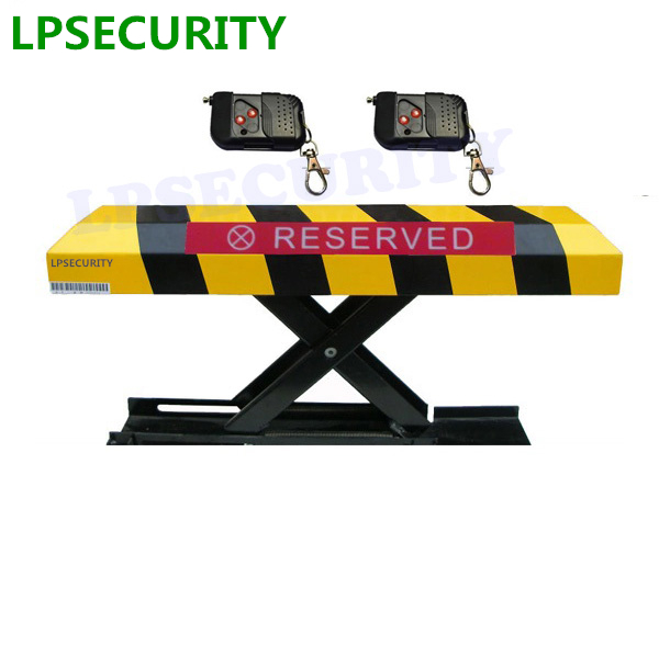 LPSECURITY 2 Remote Control Folding Fold Down Security Parking Lock Barrier Bollard Post With Lock & Bolts(NO BATTERY INCLUDED)(China)