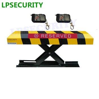 LPSECURITY 2พับการควบคุมระยะไกลพับลงที่จอดรถการรักษาความปลอดภัยล็อคอุปสรรคbollardโพสต์ที่มีการล็อค...