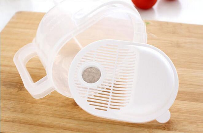 1PC Super Practical Creative Fashion Plastic Wash Rice Colander Strainer Sieve Kitchen Plastic Drain Vegatable Basket OK 0474 in Colanders Strainers from Home Garden