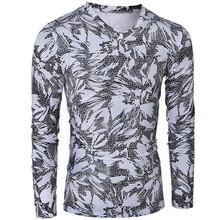 Tshirt Homme 2016 Long Sleeve T Shirt V-Neck Men T-Shirt Camisetas Fashion Leopard Bronzing Hombre Tee Shirt Homme Funny T Shirt