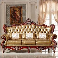Высокое качество европейские антикварные диван в гостиной мебели из натуральной кожи комплект pfy10002