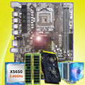 PC аппаратно HUANAN Чжи X58 LGA1366 материнской платы с Процессор Intel Xeon X5650 2,66 ГГц Оперативная память 8G ECC REG видео карты GTX750Ti 2G