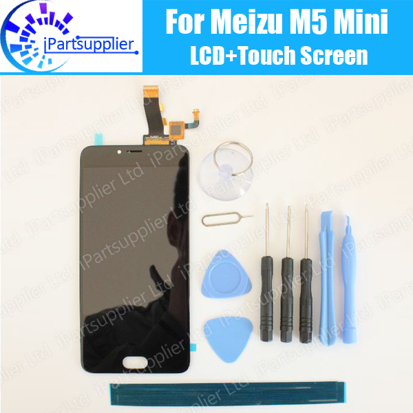 ФОТО Meizu M5 Mini LCD Display+Touch Screen 100% Original LCD Digitizer Glass Panel Replacement For Meizu M5 Mini+tools+adhesive