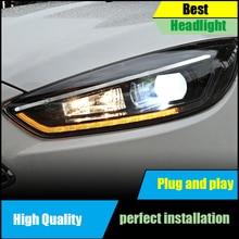 Car Head Lamp For Ford Focus MK3 Headlight 2015-2017 Headlights LED DRL Double Beam Lens Bi-Xenon Moving Turn Signal Front Light