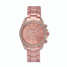 women watches 2017 great sale hot Geneva Women Rhinestone Crystal Quartz Analog Wrist Watch mujer relogios feminino P*21