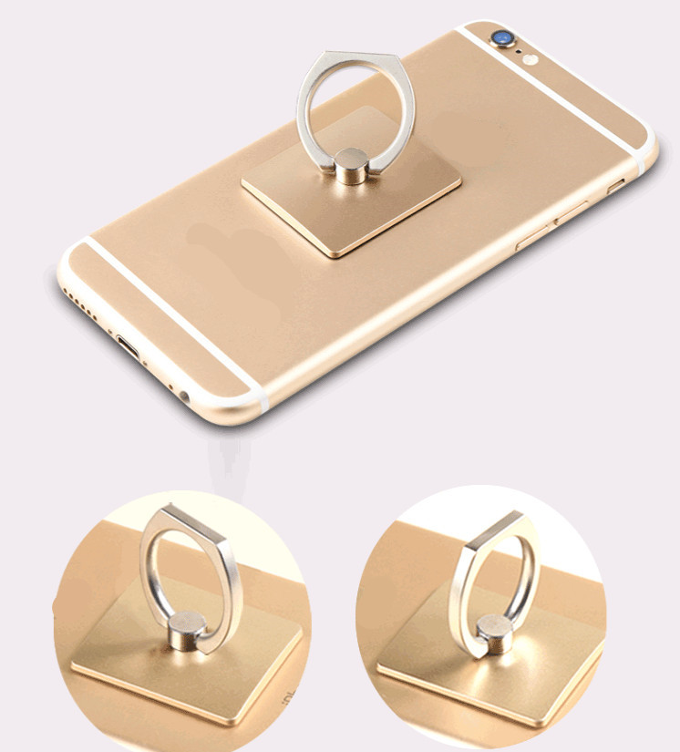 EastVita Portable Universal Metal Finger Ring Phone Holder 360° Rotating Bracket For IPhone Samsung 828
