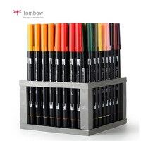 ญี่ปุ่น Tombow ABT Dual น้ำแปรง pen & Fine Tip ปากกา Professional CalligraphyArt Marker ปากกาสำหรับ Bullet Journaling การ์ด