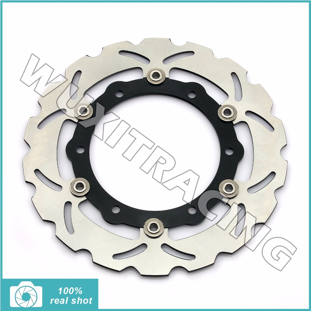 267mm Motorcycle New Front Brake Disc Rotor for YAMAHA XP T-MAX TMAX500 / ABS 500 2008-2011 2009 2010 Floating Wave Disk 1 pc 1 pcs motorcycle rear brake rotor disc braking disk for yamaha xp 500 t max 2001 2011 xp500 tmax abs 2008 2011