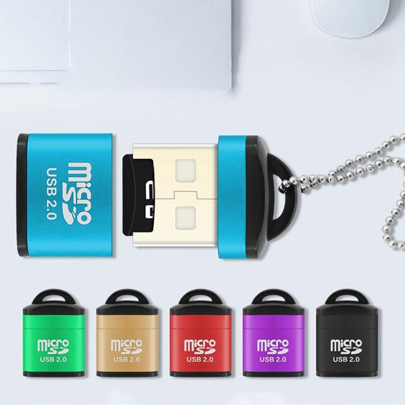 Mini High Speed 480Mpbs USB 2.0 Micro SD SDXC TF T-Flash Memory Card Reader Adapter Computor Supplies