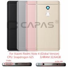 Per Xiaomi Redmi Nota 4 Versione Globale Posteriore del Metallo della Batteria Dellalloggiamento Della Copertura Redmi Note4 Della Copertura posteriore Snapdragon 625 Parti di Ricambio