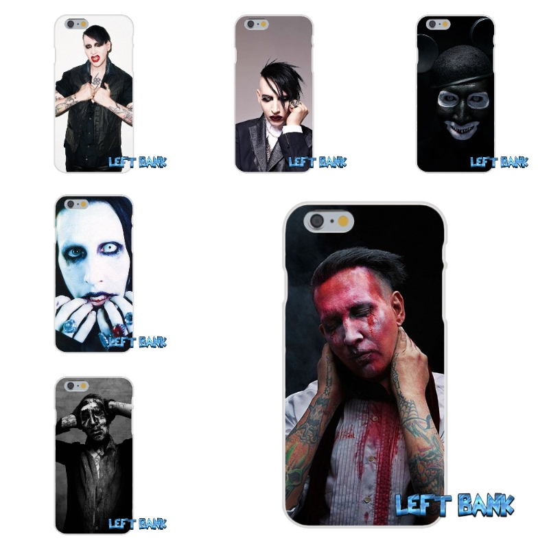 Marilyn manson Soft Silicone TPU Transparent Cover Case For iPhone 4 4S 5 5S 5C SE 6 6S 7 Plus