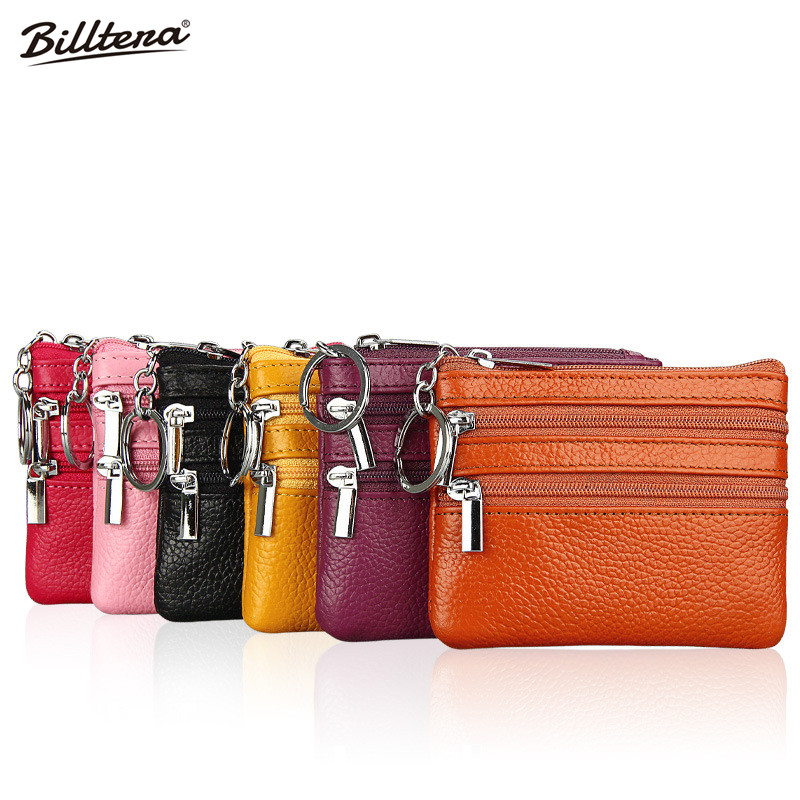 The Manufacturer Direct Wholesale New Small Zero Purse Coin Change Baotou Fine Layer of Leather Wallet