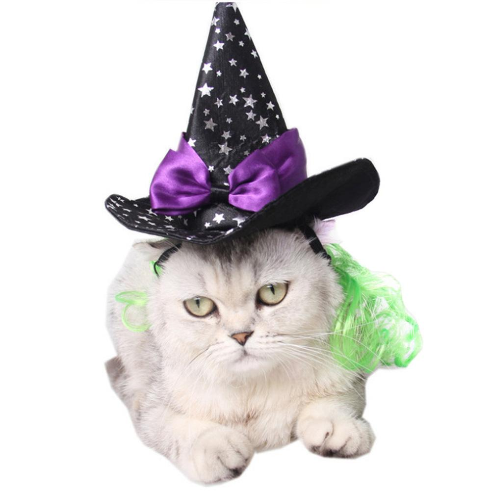 Cute Dog Pet Halloween Supplies Pet Accessories Festival Ball Decoration Star Cat Magic Hat Witch Pointer Cap Dropshipping