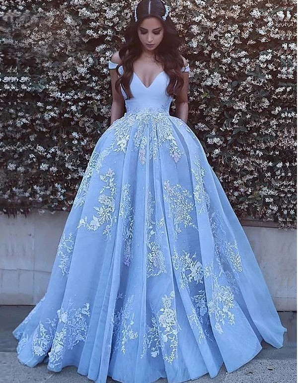 Vestido de Festa Off-the-Shoulder Satin Tulle Ball Gown   Prom     Dresses   with Lace Appliques Elegant Formal   Dress   Women Gala   dress
