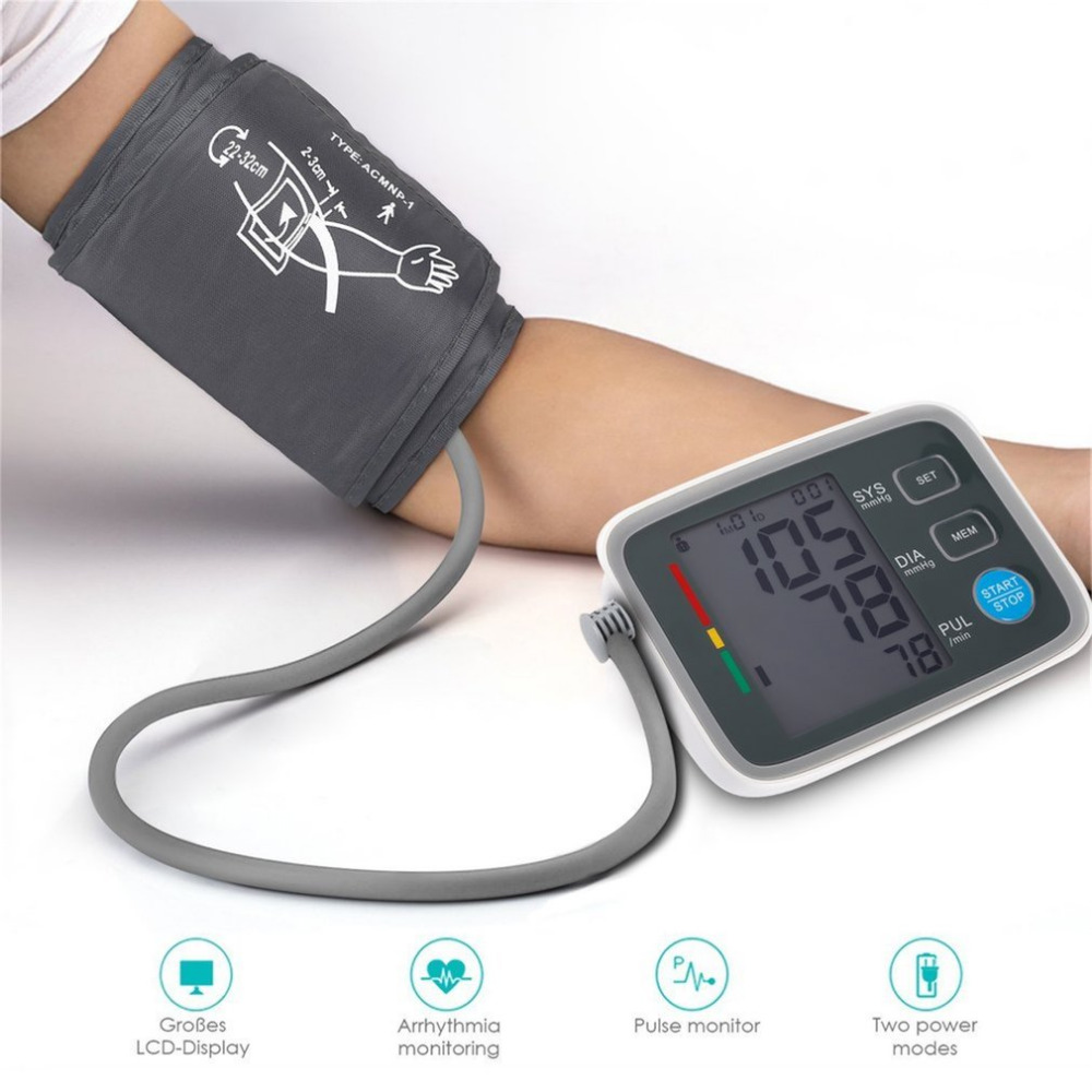Fully Automatic Digital Upper Arm Blood Pressure Monitor Clinically Validated Sphygmomanometer Health Care With Original Box free shipping fully automatic arm digitl blood pressure monitor sphygmomanometer color lcd with ce fda
