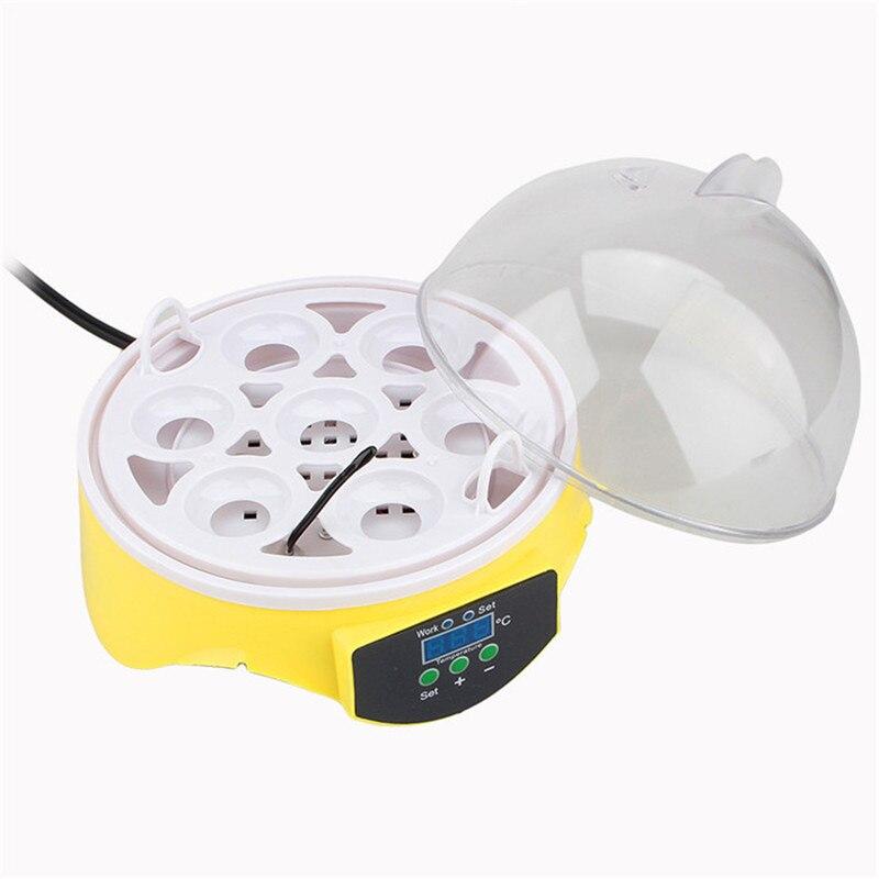 мини 7 яиц инкубатор птицы инкубатор Pit цифровой температура инкубации яйцо инкубатор обогреватель Cure ут птица Голуб