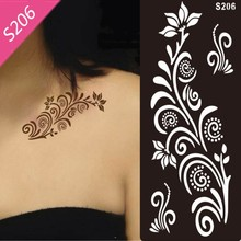Styles 18×9.59cm 1 Piece Tattoo Airbrush Stencils For Body Painting Henna Stencil Template Mixed Designs Tattoo Accessories