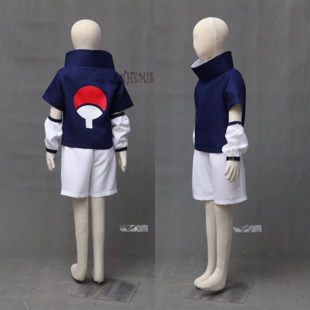 Naruto Uchiha Sasuke Costume And Blue Headband