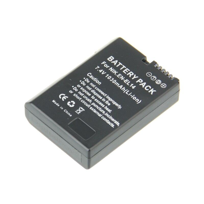 Bateria para Câmera 1 PCS En-el14 EN El14 Li-ion Digital Nikon Coolpix P7000 D3100 D5100 D5200 P7700 P7100 D3200 Z1