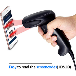 Image 3 - Escáner de código de barras 2D, Symcode 1D/2D CMOS, lector de código de barras USB 2,0 portátil con cable, funciona para códigos de pantalla