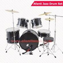 5 Drums 3 Crash Cymbals Black color Afanti Music Jazz Drum Set Drum kit AJDS 425