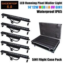 Gigertop tp-wp1412 led службы приспособление 14×12 w цвет индивидуальный контроль led мыть стены литого алюминия rgb триколор 5in1 кофр