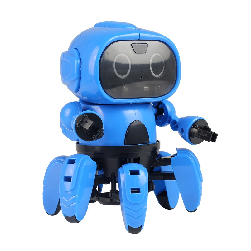 DIY Assembly Robot Kit Product STEM Educational Toys Gesture Sensing  Infrared Avoid Obstacle Walking Robot learning kit for Kids