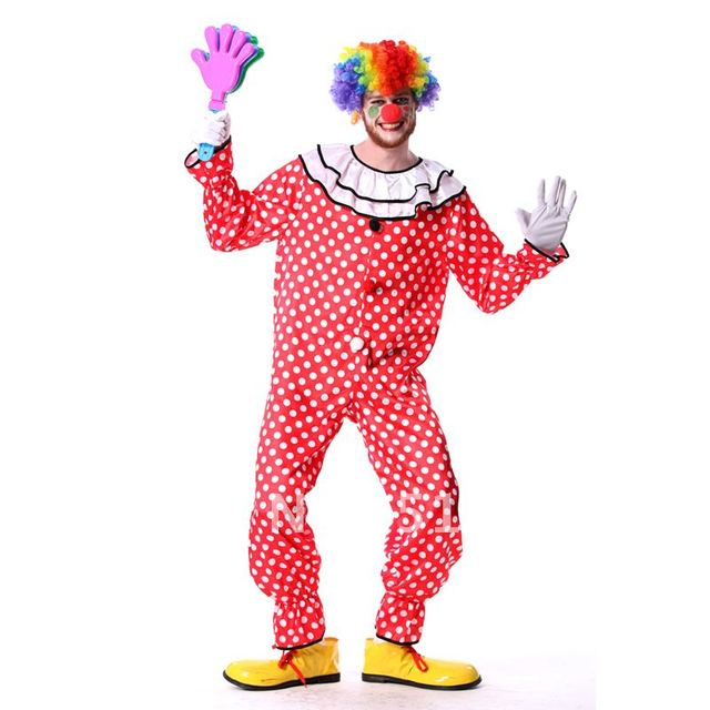 Halloween party supplies cosplay adult size clown costume christmas men's decoration for free shipping