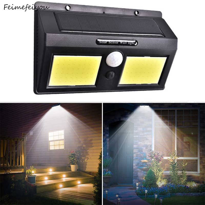 Solar Lamp LED Wall Solar Light Outdoor Security Lighting with Motion Sensor Detector Garden Back Door Step 270 degree Lengthen