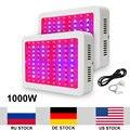 2 шт./лот 1000 Вт двойные чипы LED растущая лампа AC85 265V полный спектр светящийся свет СИД для роста комнатных растений