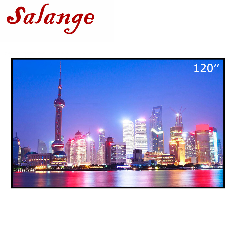 Salange Projection Screen 1.6mx2.5m Reflective Fabric Cloth Projector Screen For Epson Benq XGIMI H1 JMGO Projector Home Theater 60 72 84 100 120 inch grey screen reflective fabric projection screen for xgimi h1 h2 h1s z6 z4 jmgo j6s projector beamer