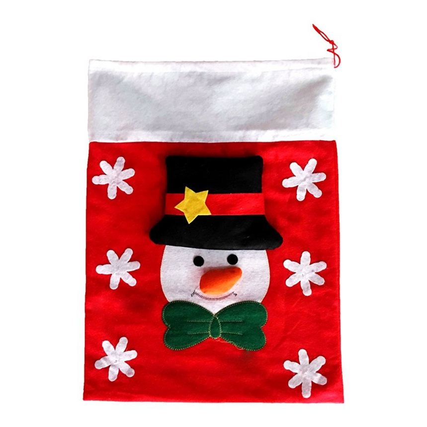 New Arrive Santa Claus Snowman Christmas Gift Bag Decoration Tree Ornaments Christmas Candy Bags Gift Holders for Childrens A15