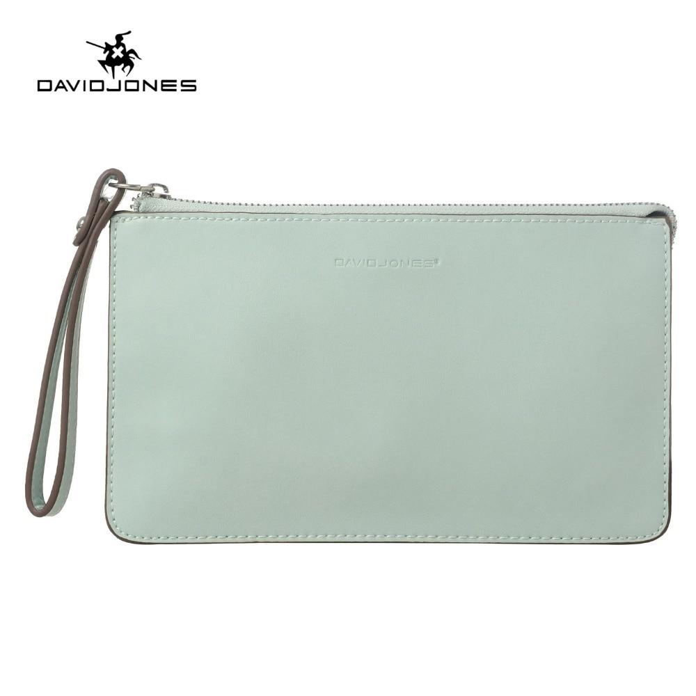 13a849e7c DAVIDJONES bolso de las mujeres de cuero de la pu de mujer bolsas de  compras mini lady sólido cartera chica marca crossbody bolso cartera envío  de la gota