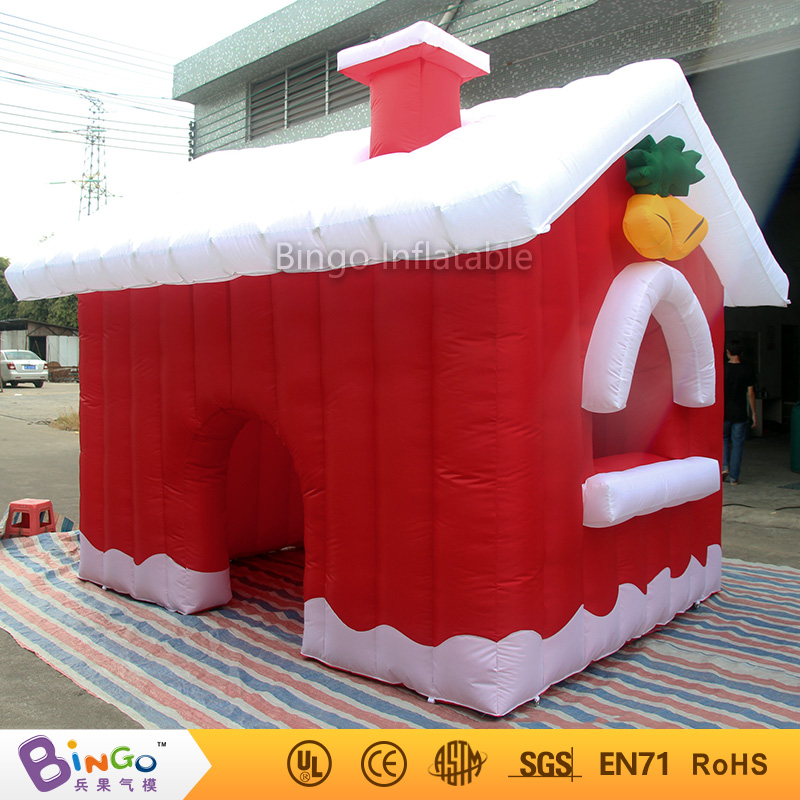 Free Delivery Decoration items 3.8X3.2X2.7 Meter inflatable christmas kids house tents hot sale blow up Xmas houses for toy tent