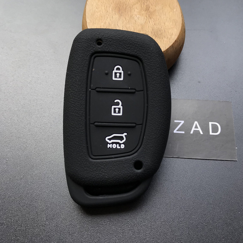 Silicone rubber car key case for Hyundai tuscon IX35 mistra 3 button smart key ...