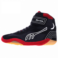 Genuine Lleather Men Wrestling Shoes Boxing Shoes Rubber Outsole Breathable Pro Wrestling Boxeo Equipment for Men and Women