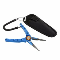 18cm Aluminum Fish Fishing Pliers Saltwater Braid Cutter Hook Line Remover Tackle Tool Kits With Pouch
