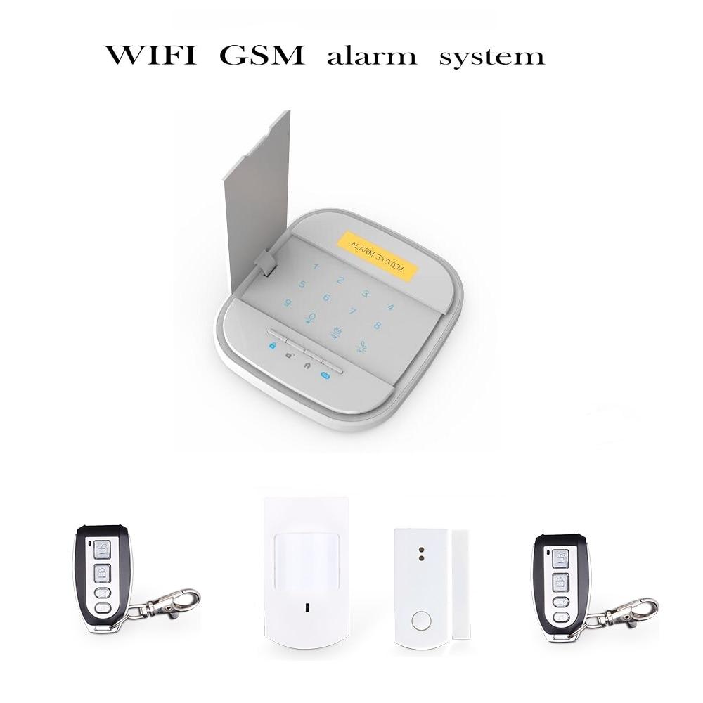 2016 New WIFI  GSM alarm  Wireless Alarm System Accessories for  WiFi GSM Smart Home Burglar Alarm System wireless smoke fire detector for wireless for touch keypad panel wifi gsm home security burglar voice alarm system