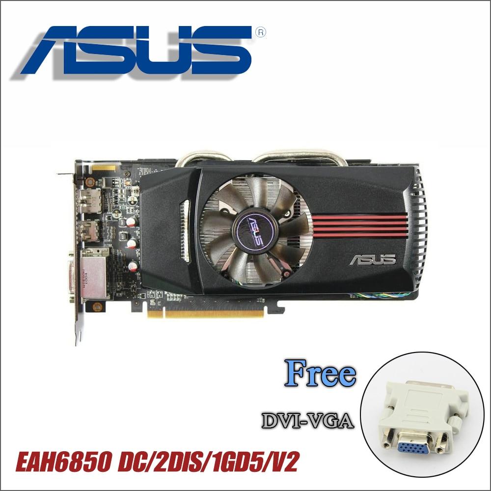 Utiliza ASUS tarjeta gráfica Original HD6850 1 GB 256Bit GDDR5 vídeo tarjetas gráficas ATI Radeon HD 6850 tarjetas utilizadas HDMI DVI