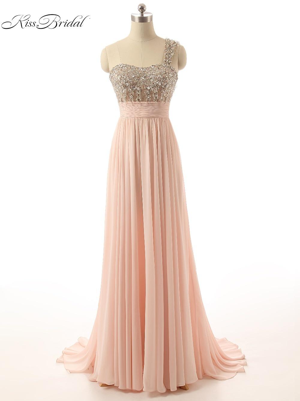 2017 Elegante Abendkleider Eine Schulter Ärmellose Bodenlangen Perlen Formelle Abendkleider Party Kleider Vestido De Festa Longo