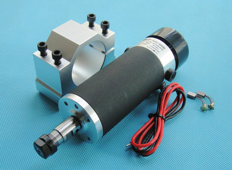 High Speed Brush Air Cooling Spindle Motor PCB Engraver Spindle with Fixed seat 48V 3.175mm ER11 500W dc110v 500w er11 high speed brush with air cooling spindle motor with power fixed diy engraving machine spindle