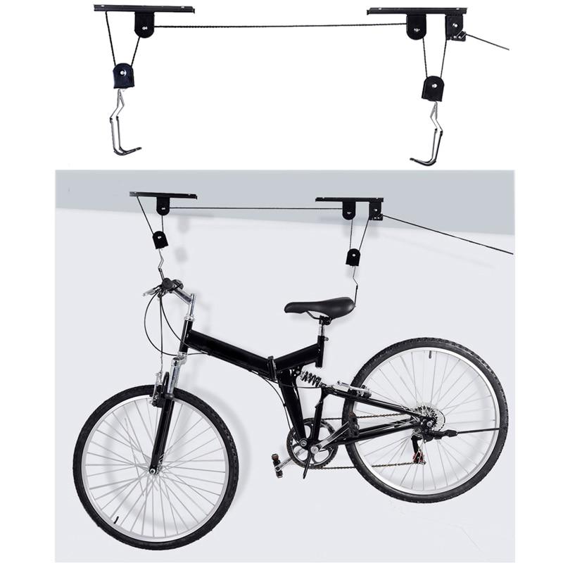 Vélo vélo ascenseur plafond monté palan stockage Garage cintre poulie Rack vélo accessoires ascenseur assemblages