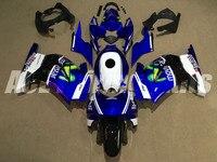 New Injection ABS Fairing kit for Kawasaki ninja250 2008 2014 EX250 250 2008 09 10 11 12 13 14 fairings +Tank cover blue balck|Full Fairing Kits| |  -