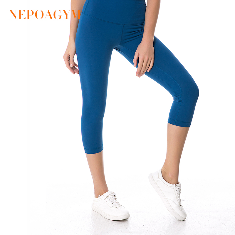 864e740d9cd71 Nepoagym Women High Waist Yoga Pants Crop Yoga Leggings Sports Capri Tights Fitness  Cropped Pant-in Yoga Pants from Sports & Entertainment on Aliexpress.com ...