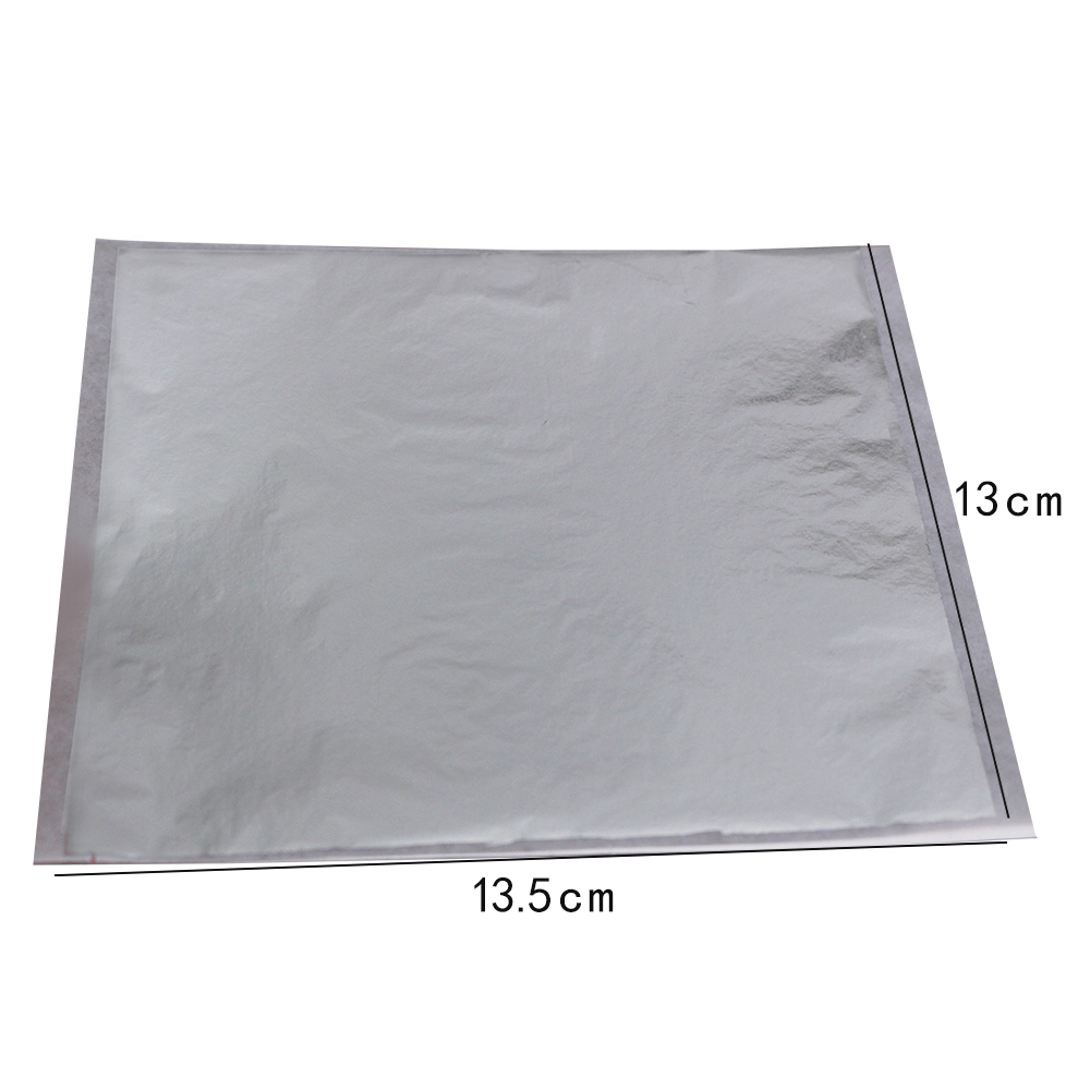Taiwan Imitation Silver Leaf Sheet Foil 1000 Pieces 13 5X14 Cm Never Oxide Free Shipping