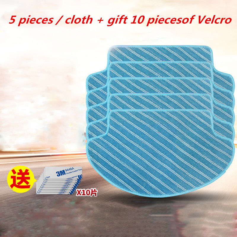 5pcs Vacuum Cleaner Parts Cleaning Mop For Ecovacs Deebot DT85/DT83/DM81/DM85 5set vacuum cleaner parts replacement 5 hepa filter 5 cotton for ecovacs dibea dt85 dt83 dm81 vacuum cleaner parts