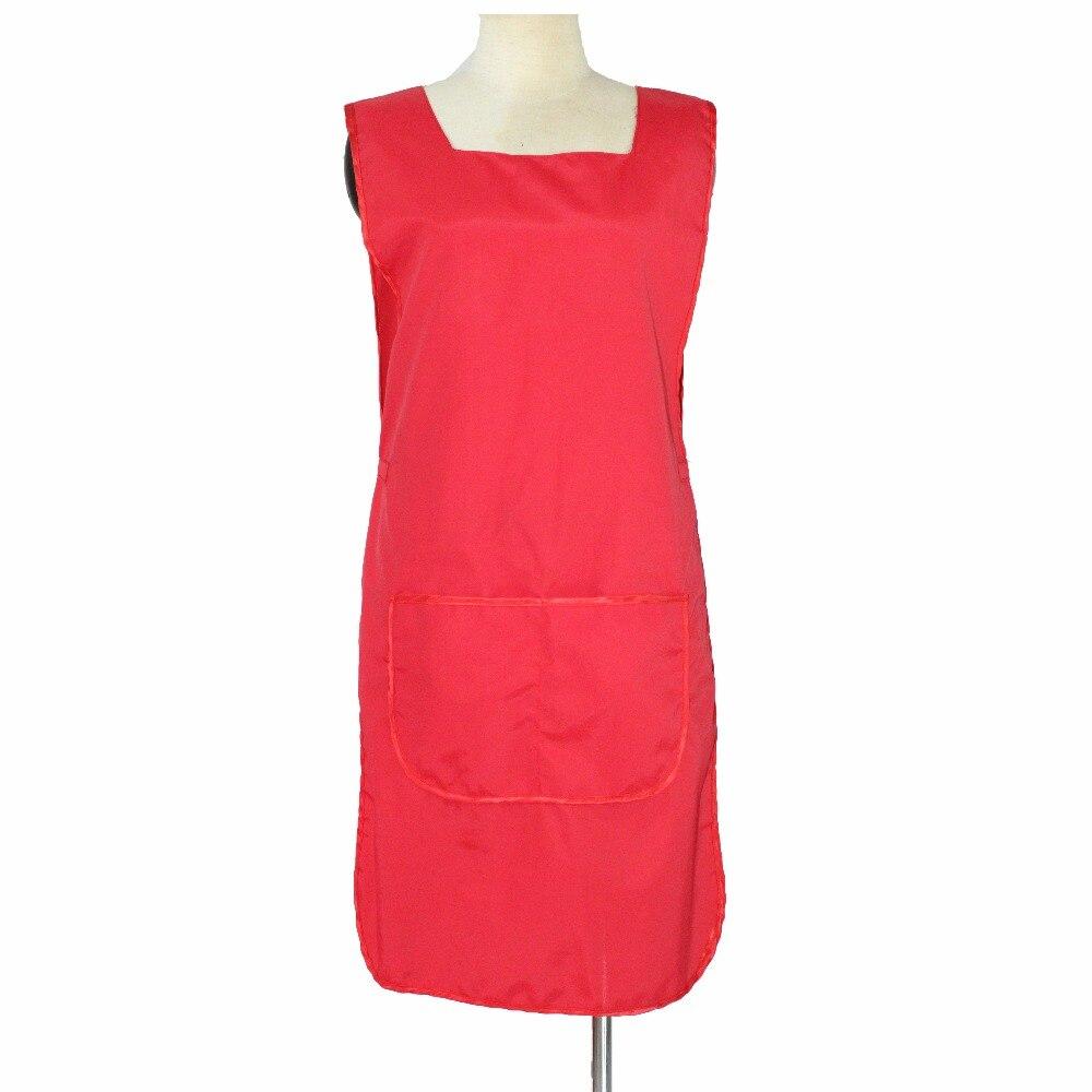 붉은 색 머리 착용, 더블 사이드 입고 수, 헤어 살롱 앞치마, 레이디 뷰티 에이프런에 대한 어깨 지주 디자인