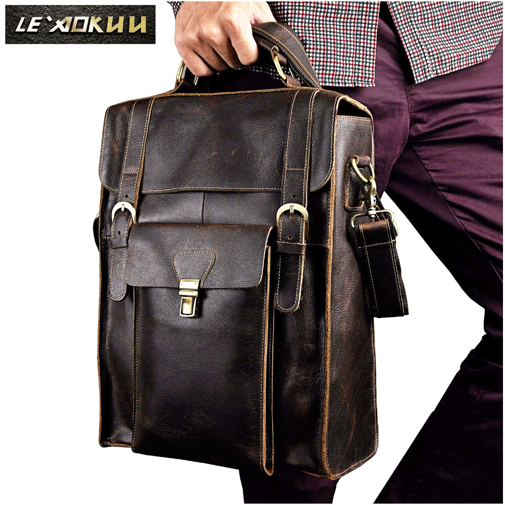 Original Leather Heavy Duty Design Men Travel Casual Backpack Daypack Rucksack Fashion Knapsack College School Laptop Bag 2106 genuine leather heavy duty design men travel casual backpack daypack fashion knapsack college school book laptop bag male 1170c